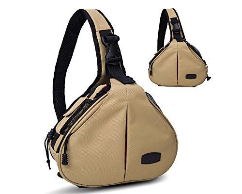 Beaspire Camera Sling Shoulder Photography Bag DSLR Travel Outdoor Portable Waterproof Backpack for Canon, Nikon, Sony, Olympus, Samsung, Panasonic, ...