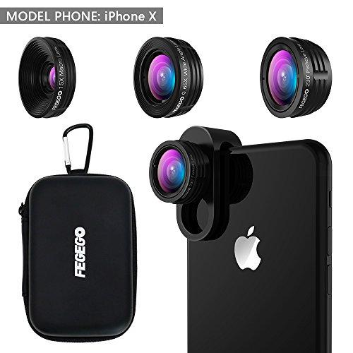 9 in 1 Phone Lens Kit, 2X Zoom Telephoto Lens + 198° Fisheye