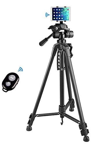 55″ inch Camera Tripod+Tablet Mount Holder+Bluetooth Remote
